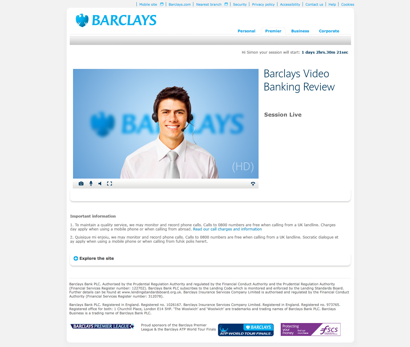 barclays session live
