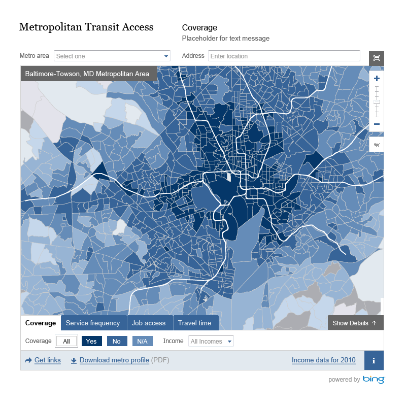 brookings metropolitan transit access
