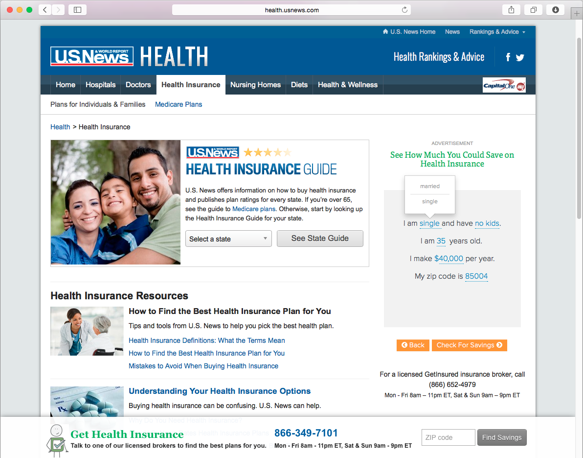 us news health plan